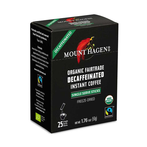 Mount Hagen Organic Fair Trade Instant Decaffeinated Coffee, 1.8 oz (50 g)
