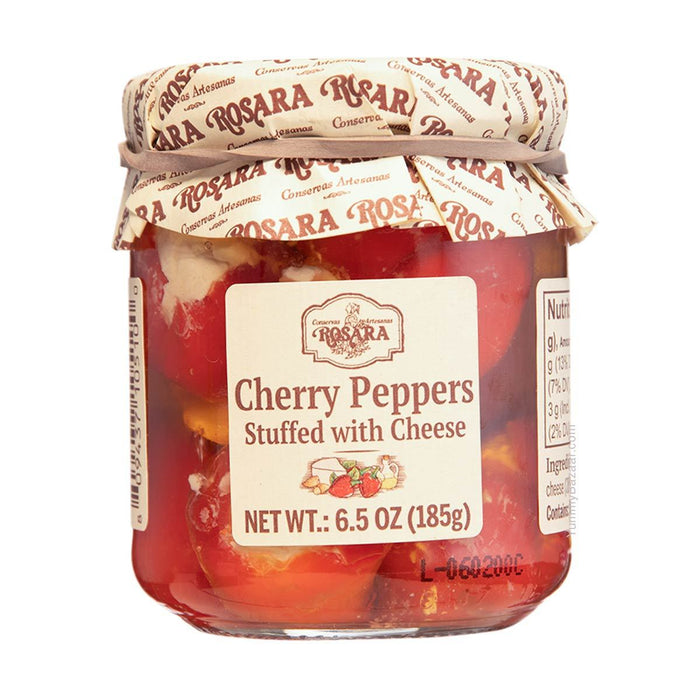 Rosara Cherry Peppers Stuffed with Cheese, 6.5 oz (185 g)
