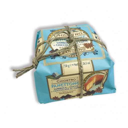 Chiostro di Saronno Panettone with Sambuca Cream and Coffee Chocolate Chips, 26.5 oz (750 g)