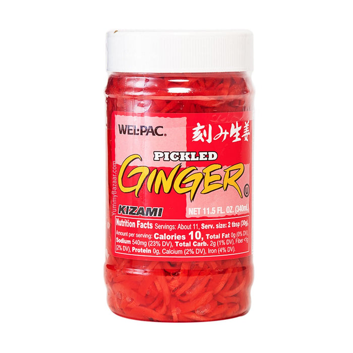 Wel-Pac Pickled Red Ginger Kizami Shoga, 11.5 fl oz (340.0952 g)