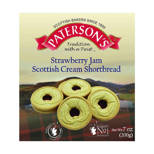 Paterson's Strawberry Jam Scottish Cream Shortbread, 7 oz (200 g)