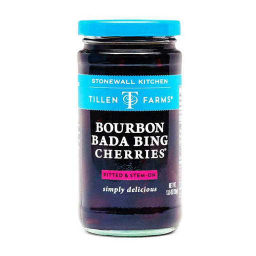 Tillen Farms Bourbon Bada Bing Cherries, 13.5 oz (380g)