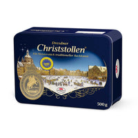 Dr. Quendt Dresdner Christstollen in Luxury Gift Tin, 1.1 lb (500 g)