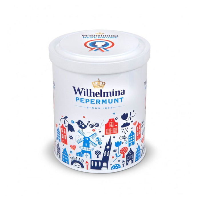 Wilhelmina Peppermint Tin Holland Design, 1.1 lb (0.498 kg)