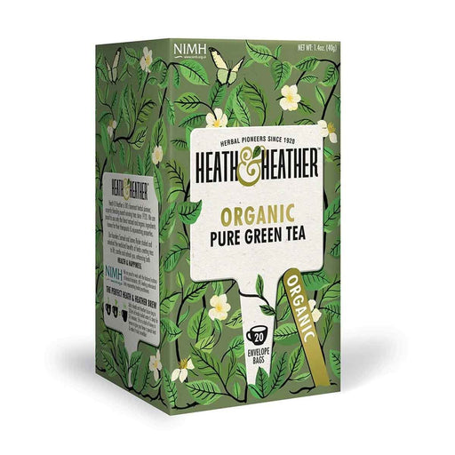 Heath & Heather Organic Pure Green Tea 20 Tea Bags, 1.4 oz (40 g)