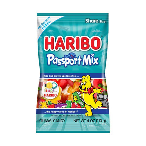 Haribo Passport Mix Gummy Candy, 4 oz (113 g)