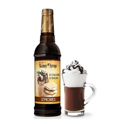 Sugar Free S'mores Syrup by Jordan's Skinny Mixes, 25.4 fl oz (750 ml)