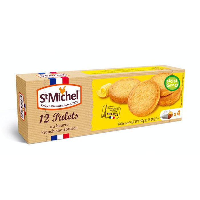St. Michel French Butter Cookies, Palets, 5.3 oz (150 g)