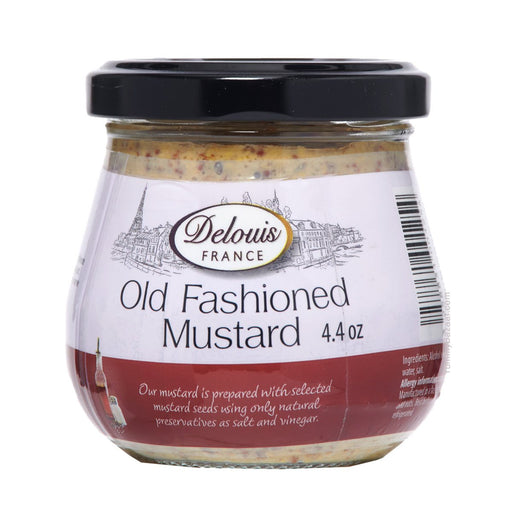 Delouis Old Fashioned Mustard, 4.4 oz (125 g)