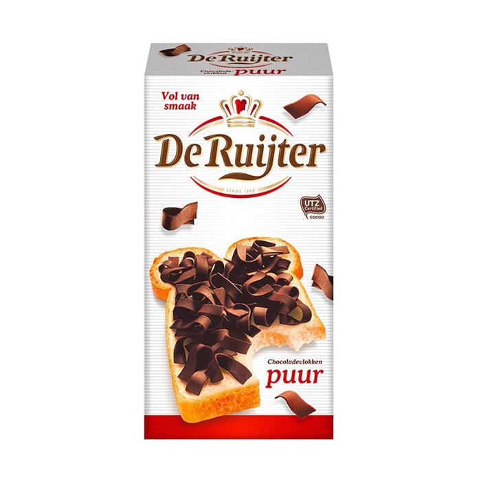 De Ruijter Dark Chocolate Flakes, 10.5 oz (298 g)
