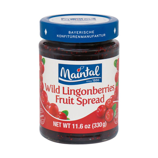 Maintal Wild Lingonberry Fruit Spread, 11.6 oz (330 g)