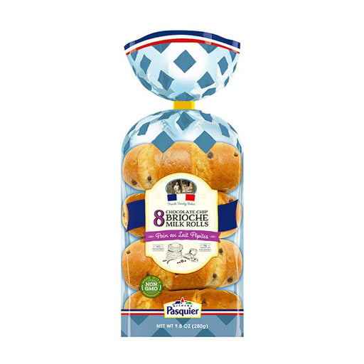 Brioche Pasquier Brioche Milk Rolls with Chocolate Chips, 9.8 oz (280 g)