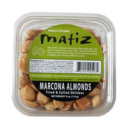Matiz Spanish Marcona Almonds, 4 oz (114 g)