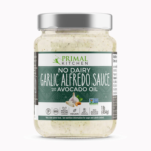 Primal Kitchen No Dairy Alfredo Sauce with Roasted Garlic, 1 lb (454 g)