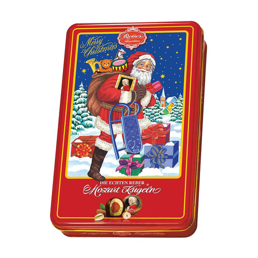 Reber Mozart Kugel in Luxury Santa Tin, 10.6 oz (301 g)