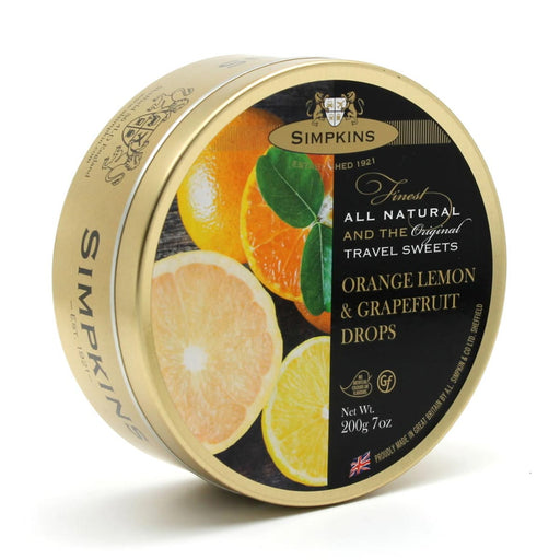 Simpkins Orange, Lemon and Grapefruit Drops, 7 oz (200 g)