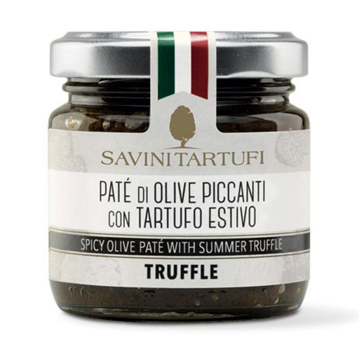 Savini Tartufi Spicy Olive Paté with Summer Truffle, 3.2 oz (90 g)