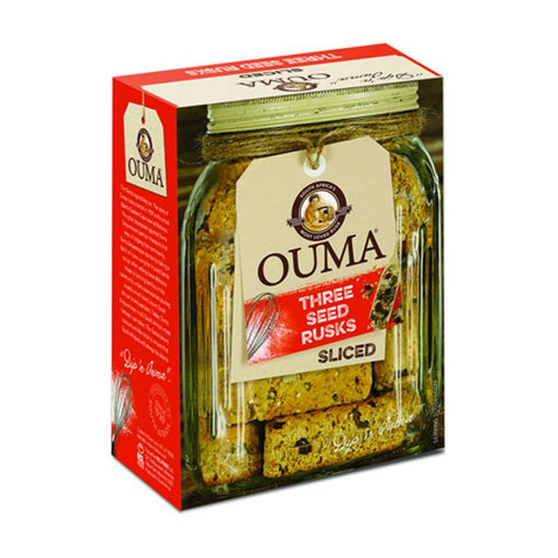 Ouma Sliced Three Seed Rusks, 17.6 oz. (500g)
