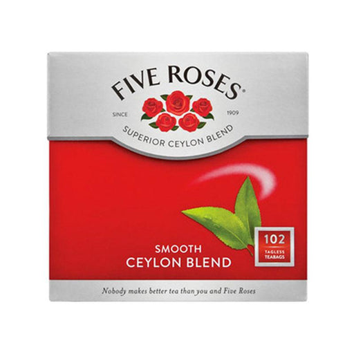 Five Roses Tea 102 Tagless Ceylon Tea Bags, 8.8 oz. (250g)