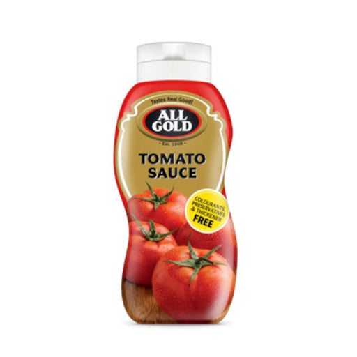 All Gold Ketchup Tomato Sauce Squeeze Bottle from South Africa, 16.9 oz. (500ml)
