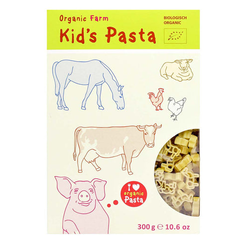 Organic Kids Pasta in Farm Animal Shapes by Alb-Gold 10.6 oz