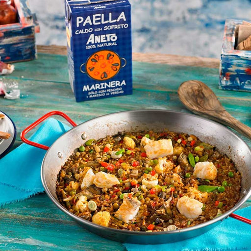 Aneto Seafood Paella Cooking Base, 33.8 fl oz (1L)