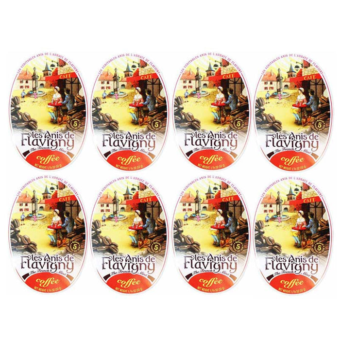 Les Anis de Flavigny Coffee Flavored Anise Candy (8 Tins)