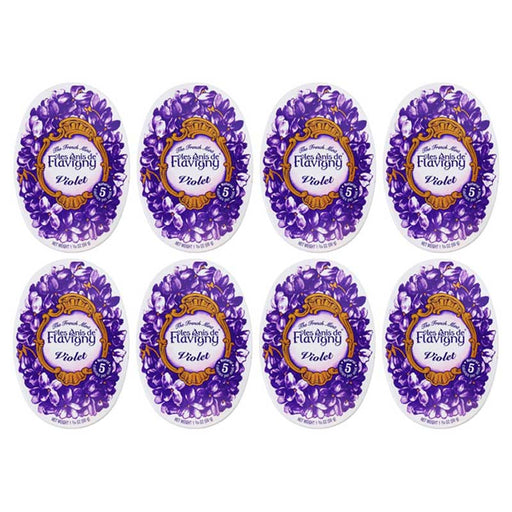 Les Anis de Flavigny Violet Flavored Anise Candy, 8-Pack