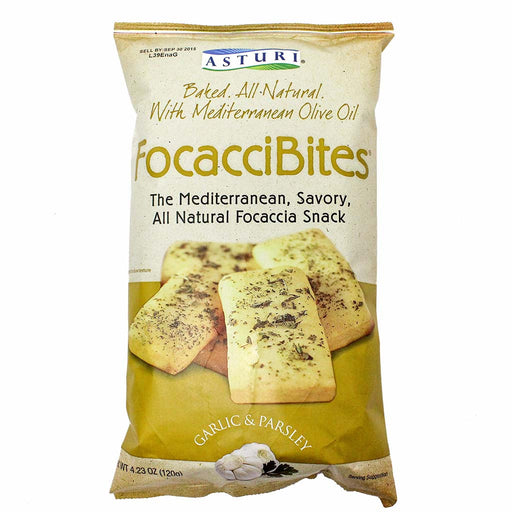 Mediterranean FocacciBites with Garlic and Parsley by Asturi 4.2 oz