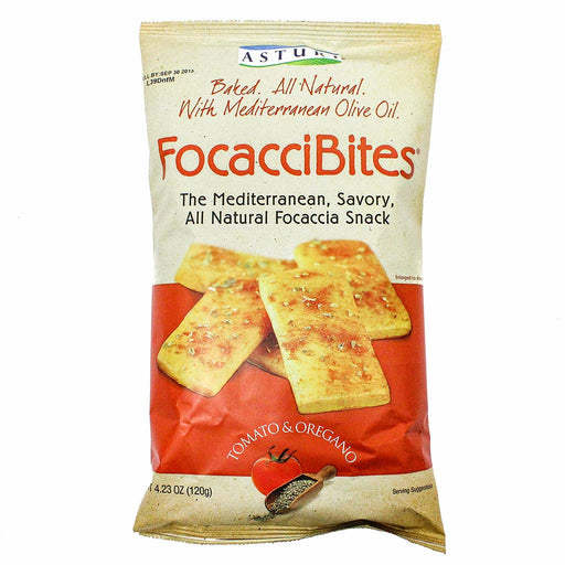 Mediterranean FocacciBites with Tomato and Oregano by Asturi 4.2 oz