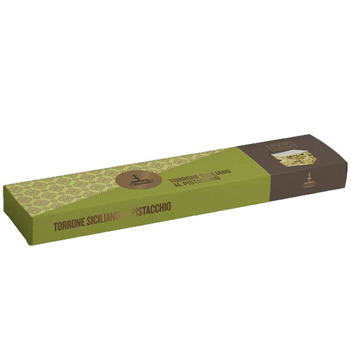 Authentic Sicilian Torrone Nougat with Pistachio by Fiasconaro 5.29 oz