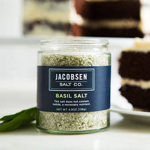 Jacobsen Salt Co Basil Infused Sea Salt, 4.9 oz.