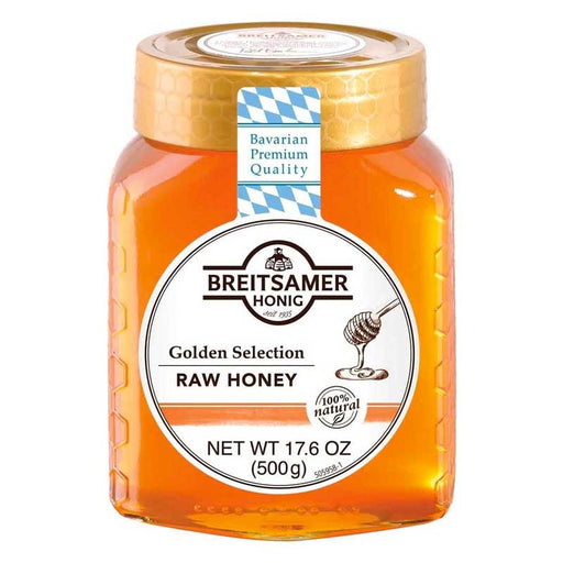 Breitsamer Golden Selection Raw Blossom Honey, 17.6 oz (500 g)