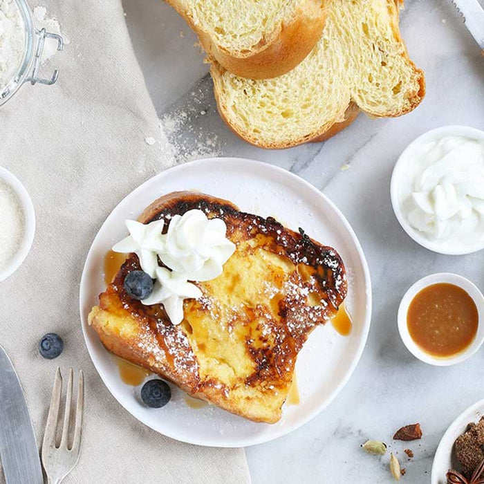 Breakfast French Toast with cream