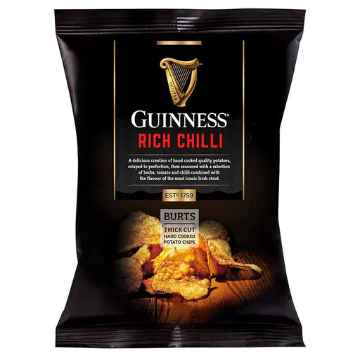Burts Guinness Rich Chili Thick Cut Potato Chips, 1.5 oz (42g)