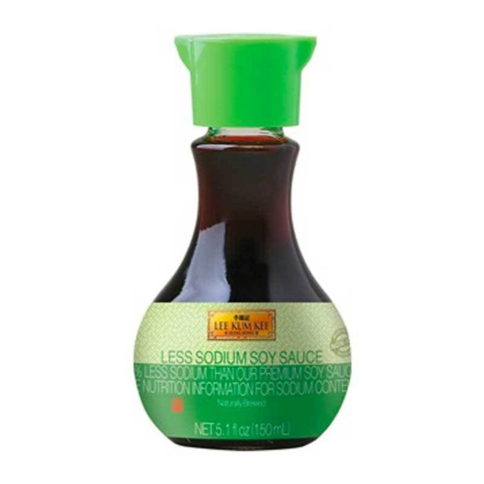 Lower Sodium Soy Sauce, 40% Less Sodium, Non GMO by LKK, 5.1 fl oz (150mL)