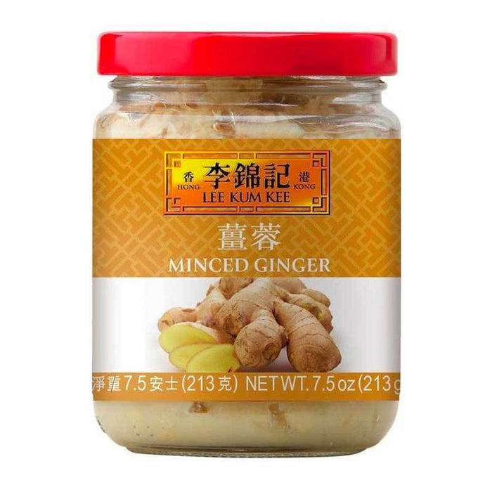 Minced Ginger in Water from Lee Kum Kee, 7.5 oz (213g)