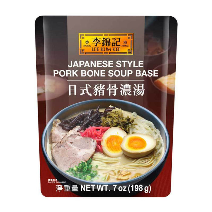 Pork Bone Broth for Japanese Ramen Soup Base by LKK, 7 oz (198g)