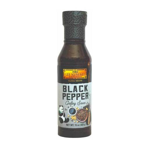 Black Pepper Sauce with Bold Peppercorn Flavor by LKK, 15 oz (425g)