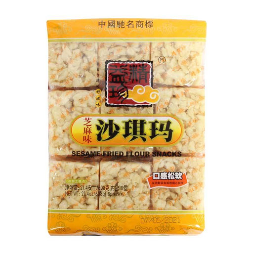 Sachima Saqima Sesame Fried Noodle Snacks, Individually Wrapped, 21.4 oz. (608g)
