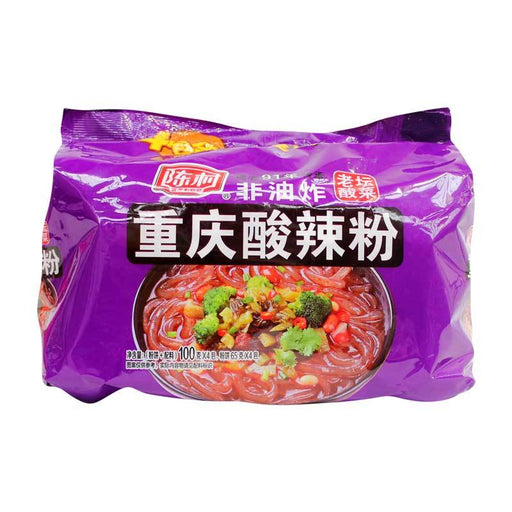 Chongqing Noodles, Instant Glass Noodles Vermicelli with Pickled Vegetables, 14.1 oz. (400g)