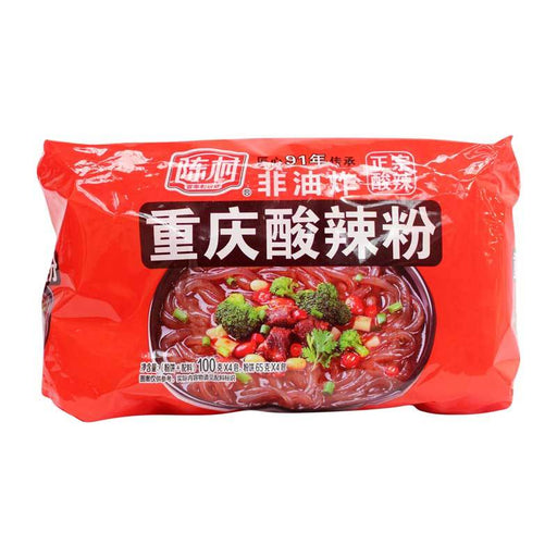 Chongqing Noodles, Instant Glass Noodles Sour and Spicy Vermicelli, 14.1 oz. (400g)