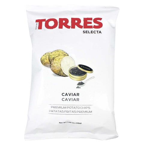 Large Pack Caviar Potato Chips by Torres 3.8 oz