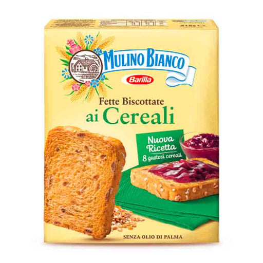 Fette Biscottate Cereal Rusks with 8 Grains by Mulino Bianco, 11 oz (315g)