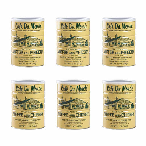 6 Pack Cafe Du Monde Decaffeinated Coffee & Chicory, 13 oz (368 g)