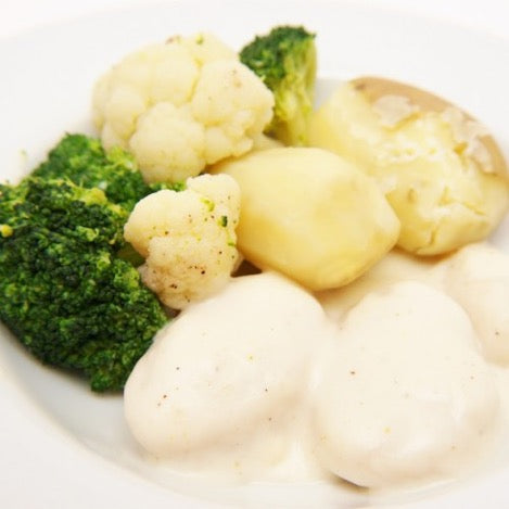 Norwegian Fiskeboller with Potato Dumplings (Serves 4)