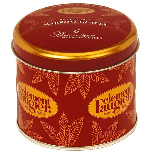 Clement Faugier Marrons Glaces, Small Tin, 4.9 oz (6 pcs)