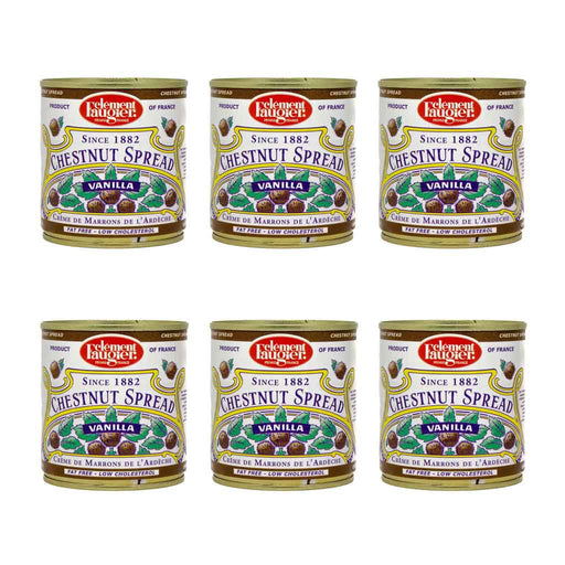 6-Pack x 17.6 oz Clement Faugier Vanilla Chestnut Spread
