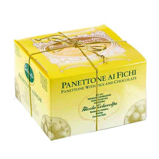 Colavolpe Premium Chocolate and Fig Panettone, 35.3 oz (1000 g)
