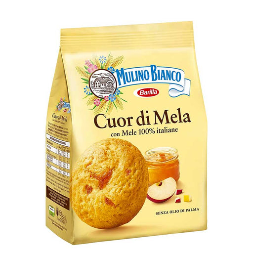 Cuor di Mela Cookies with Apple Jam by Mulino Bianco,  8.8 oz